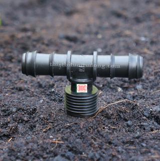 Tê nối ống PE 16mm ra ren ngoài 21